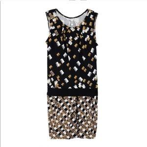 DVF 100% silk jersey sleeveless dress
